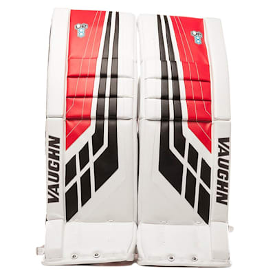 White/Black/Red (Vaughn Velocity VE8 XFP Goalie Leg Pads - Senior)