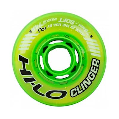 (Bauer Hi-Lo Clinger Indoor Inline Wheel - Green)