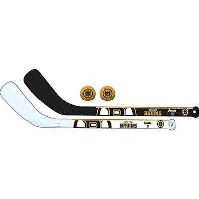 (Franklin NHL Mini Hockey Stick Set - Boston Bruins)