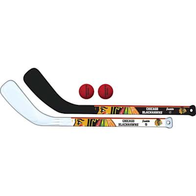 (Franklin NHL Mini Hockey Stick Set - Chicago Blackhawks)