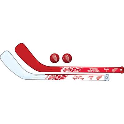 (Franklin NHL Mini Hockey Stick Set - Detroit Red Wings)
