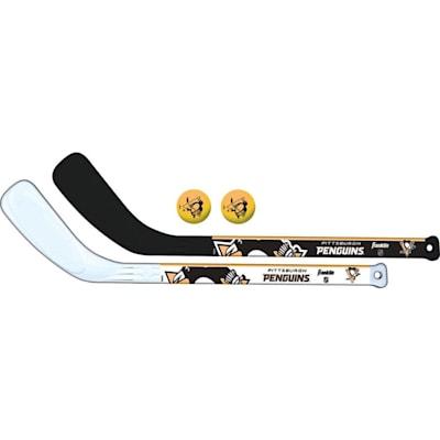 (Franklin NHL Mini Hockey Stick Set - Pittsburgh Penguins)