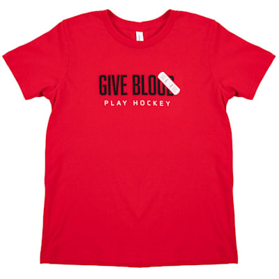 (PlusMinus Give Blood Play Hockey Youth Tee - Youth)