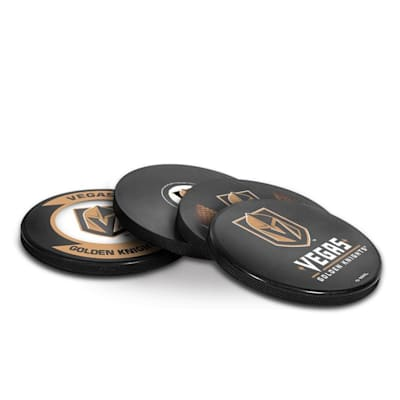 (InGlasco Puck Coasters Pack - Vegas Golden Knights)