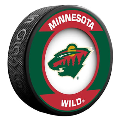 (InGlasco NHL Retro Hockey Puck - Minnesota Wild)