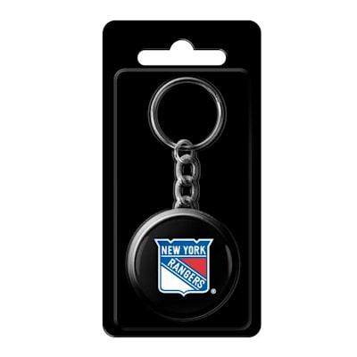 (InGlasco NHL Puck Keychain - New York Rangers)