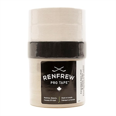(Renfrew Hockey Tape Assorted 6 Pack - Clear/White/Black)