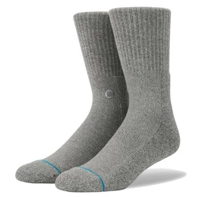 Heather Grey (Stance Icon Crew Socks - Adult)