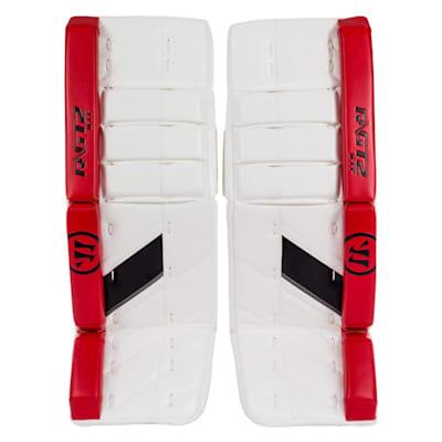 White/Black/Red (Warrior Ritual GT2 Goalie Leg Pads - Intermediate)