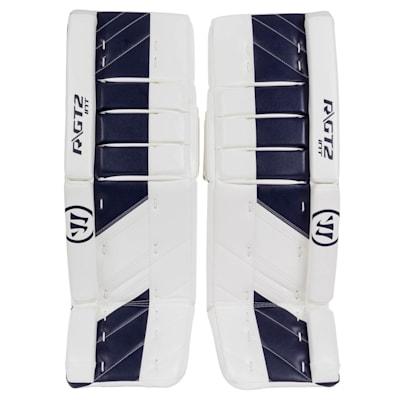 White/Navy (Warrior Ritual GT2 Goalie Leg Pads - Intermediate)