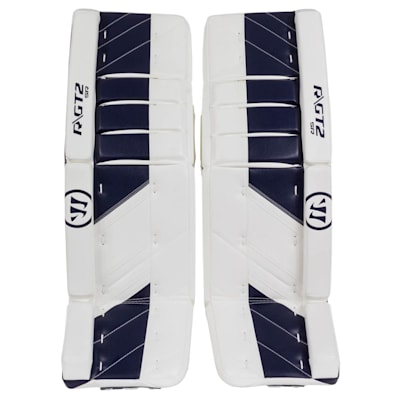 White/Navy (Warrior Ritual GT2 Goalie Leg Pads - Senior)