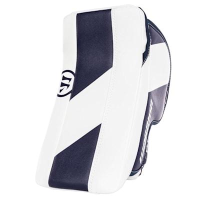 White/Navy (Warrior Ritual GT2 Goalie Blocker - Junior)