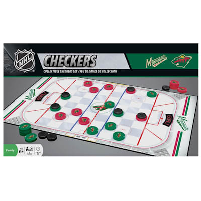 (MasterPieces NHL Checkers - Minnesota Wild)