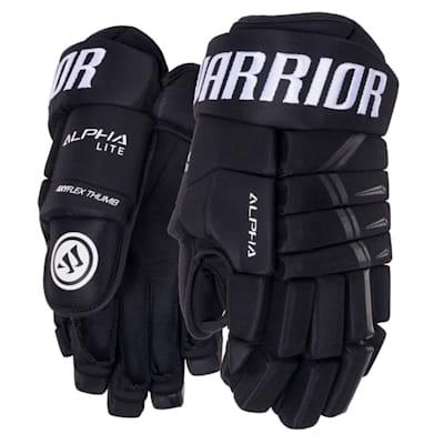 Black (Warrior Alpha Lite Hockey Gloves - Junior)