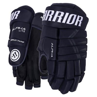 Navy (Warrior Alpha Lite Hockey Gloves - Junior)