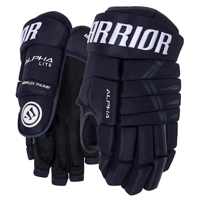 Navy (Warrior Alpha Lite Hockey Gloves - Senior)