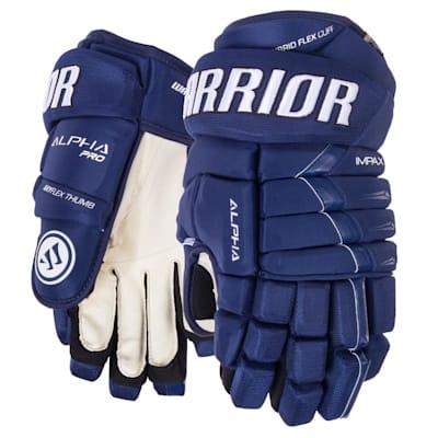 Dark Royal (Warrior Alpha Pro Hockey Gloves - Junior)