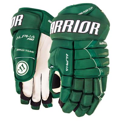 Forest Green (Warrior Alpha Pro Hockey Gloves - Junior)
