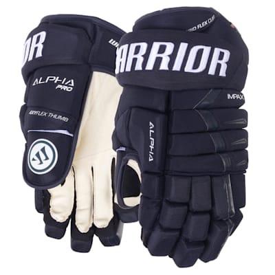 Navy (Warrior Alpha Pro Hockey Gloves - Junior)