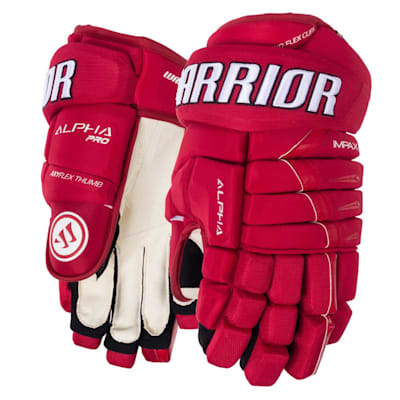 Red (Warrior Alpha Pro Hockey Gloves - Junior)