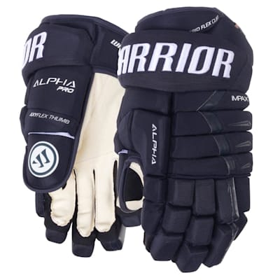Navy (Warrior Alpha Pro Hockey Gloves - Senior)