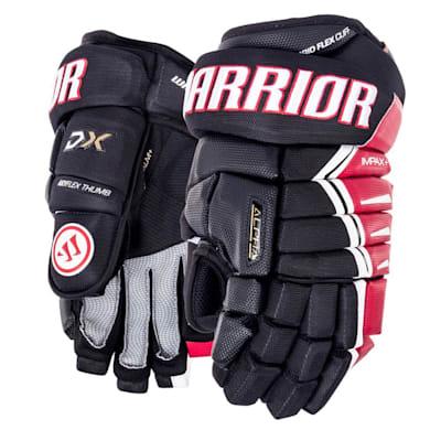Black/Red/White (Warrior Alpha DX Hockey Gloves - Senior)