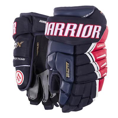 Navy/Red/White (Warrior Alpha DX Hockey Gloves - Senior)