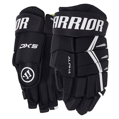 Black (Warrior Alpha DX5 Hockey Gloves - Junior)