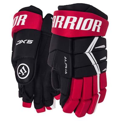 Black/Red (Warrior Alpha DX5 Hockey Gloves - Junior)