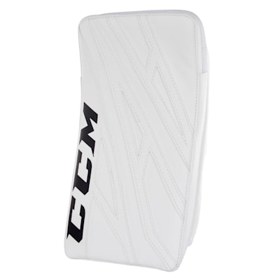 White/White (CCM Extreme Flex 4.5 Goalie Blocker - Junior)