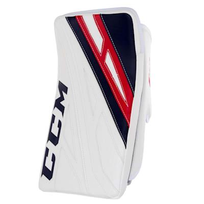 White/Navy/Red (CCM Extreme Flex 4.9 Goalie Blocker - Senior)