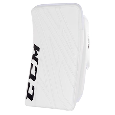 White/White (CCM Extreme Flex 4.9 Goalie Blocker - Senior)
