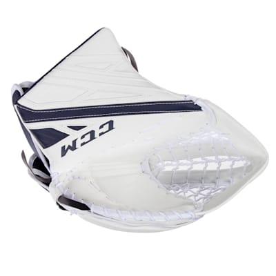 White/Navy (CCM Extreme Flex 4.9 Goalie Glove - Intermediate)