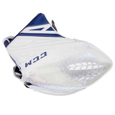 White/Royal (CCM Extreme Flex 4.9 Goalie Glove - Intermediate)