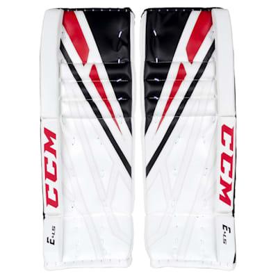 White/Black/Red (CCM Extreme Flex 4.5 Goalie Leg Pads - Junior)