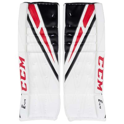 White/Black/Red (CCM Extreme Flex 4.9 Goalie Leg Pads - Senior)