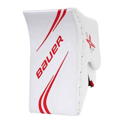 White/Red (Bauer Vapor 2X Pro Goalie Blocker - Senior)