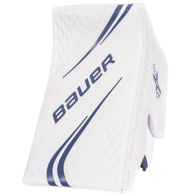 White/Blue (Bauer Vapor 2X Pro Goalie Blocker - Senior)