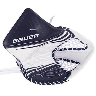 White/Navy (Bauer Vapor 2X Goalie Catch Glove - Senior)