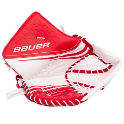 White/Red (Bauer Vapor 2X Goalie Catch Glove - Senior)