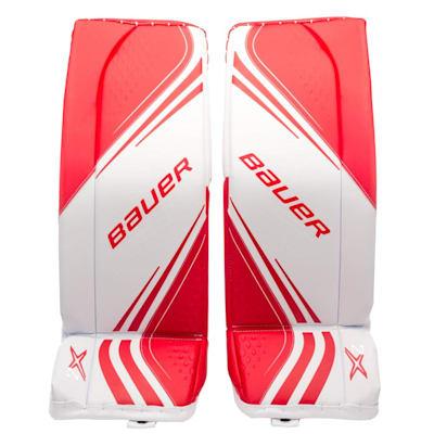 White/Red (Bauer Vapor 2x Goalie Leg Pads - Senior)