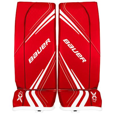 Red (Bauer Vapor X2.7 Goalie Leg Pads - Junior)