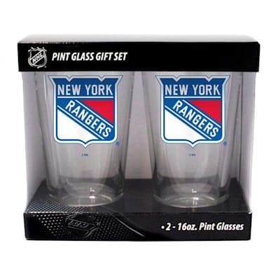 New York Rangers (16oz NHL Pint Glass 2-Pack - New York Rangers)