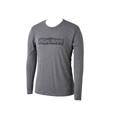 (Bauer Blocks of Ice Long Sleeve Tee Shirt - Adult)
