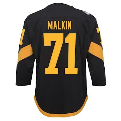 Back (Adidas Pittsburgh Penguins 2019 Stadium Series Malkin Replica Jersey - Youth)