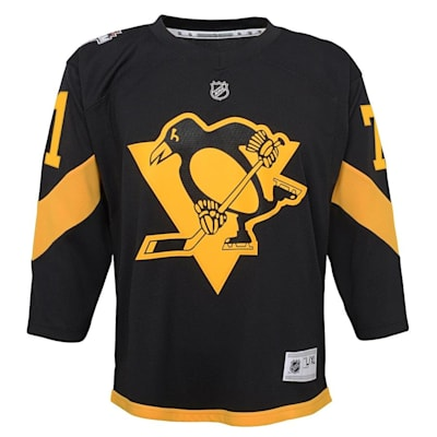 Front (Adidas Pittsburgh Penguins 2019 Stadium Series Malkin Replica Jersey - Youth)