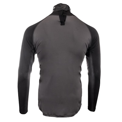 Back (Bauer S19 Long Sleeve Neck Protector Top - Youth)