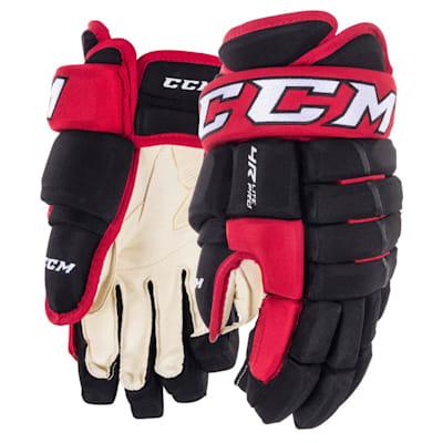 Black/Red (CCM Tacks 4R Lite Pro Hockey Gloves - Junior)