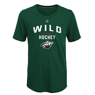 (Adidas Unassisted Goal Short Sleeve Tee - Minnesota Wild - Youth)