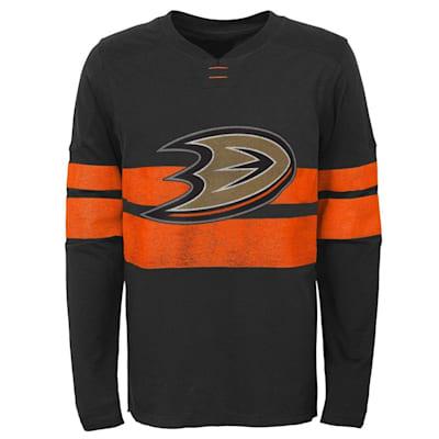 (Adidas Anaheim Ducks Featured Classic Long Sleeve - Youth)